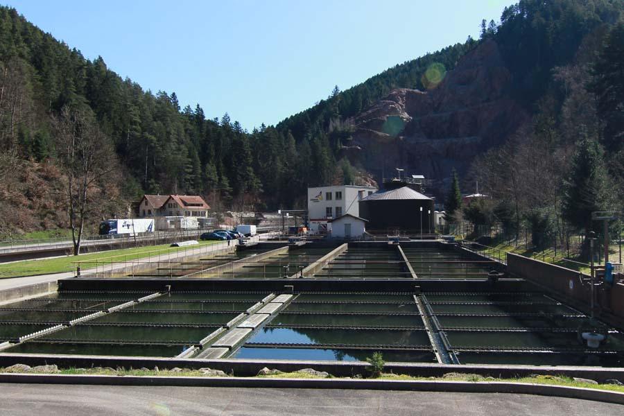 Reinigungsbecken der Kläranlage Schramberg