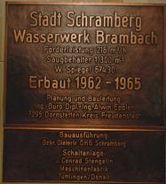 Bild Schild Wasserwerk Brambach