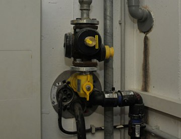 Absperreinrichtung Gasanlage