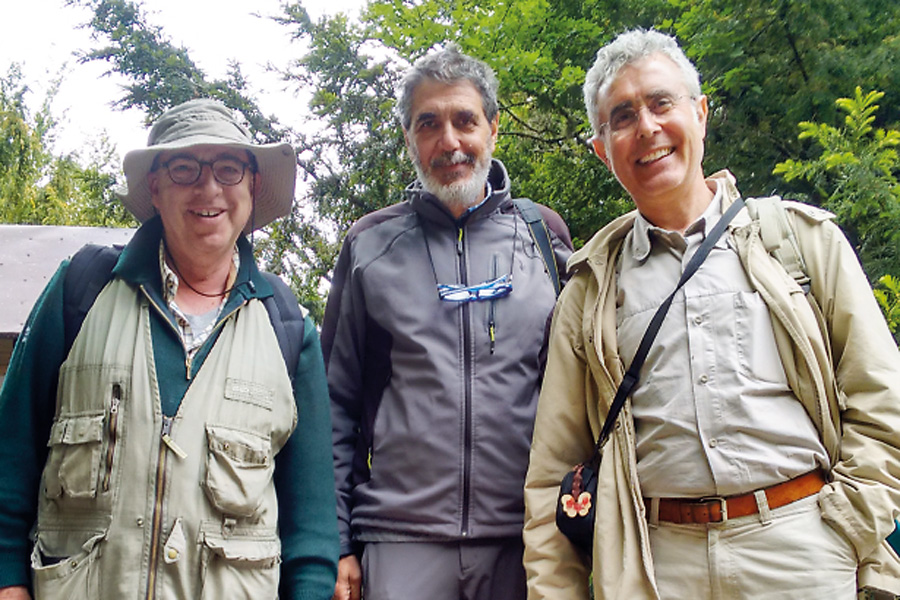 Auf Exkursion in Sizilien mit seinen italienischen Kollegen Tommaso La Mantia und Giuseppe Garfi.