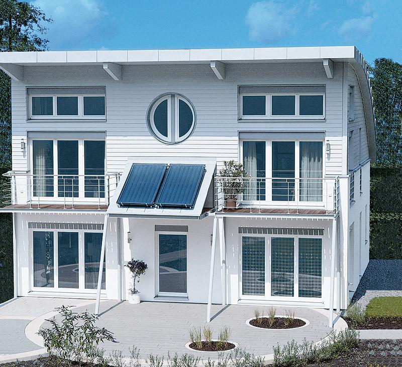 Foto Haus mit Solaranlage