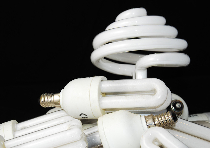 Foto Energiesparlampen verschiedene Formen
