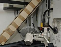 Zugestellte Absperreinrichtung Gasanlage