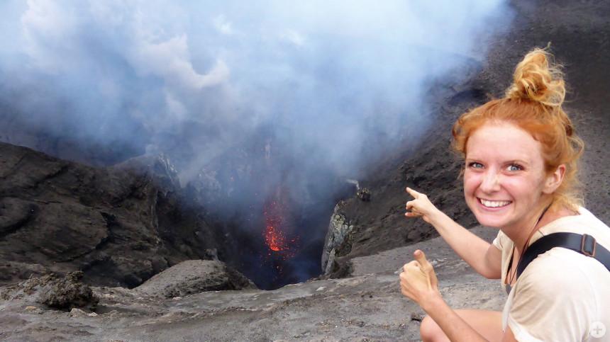 Schon einiges erlebt haben die beiden während ihrer Weltreise. Unter anderem eine Tour auf einen Vulkan der Vanuatu Inseln.